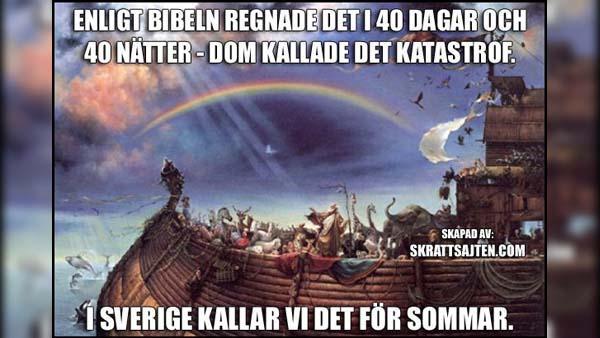 Svensk sommar - det bara regnar