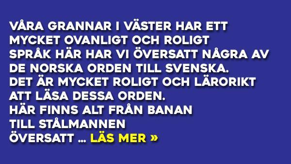 Norsk- Svensk ordlista