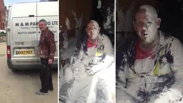 En målare har en dålig dag - men hans kompisar har desto roligare