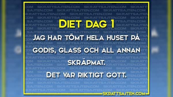Diet dag 1