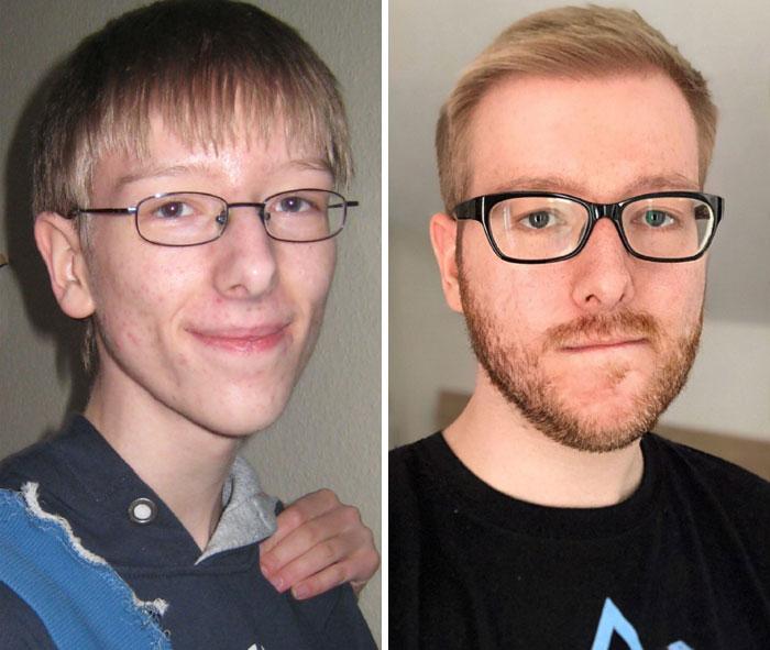11. 7 års skillnad mellan bilderna