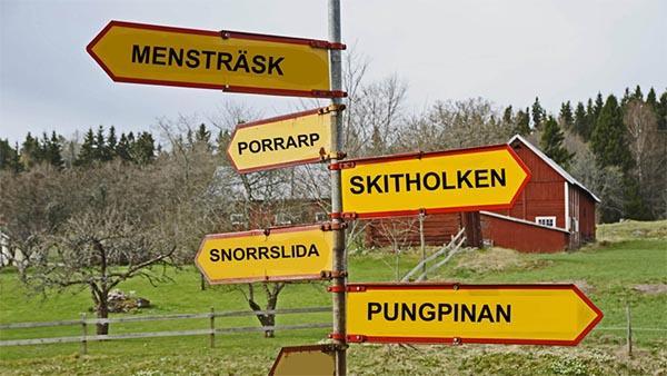 12 svenska platser med väldigt lustiga namn. Seriöst, hur tänkte man när man namngav dessa platser?
