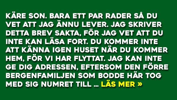 Norsk Mor skriver till sin son