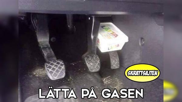 Lätta på gasen