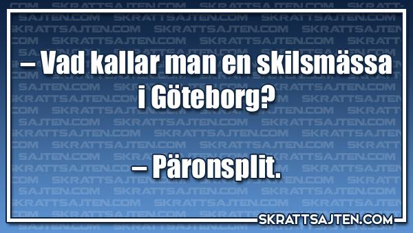 Vad kallar man en skilsmässa i Göteborg?