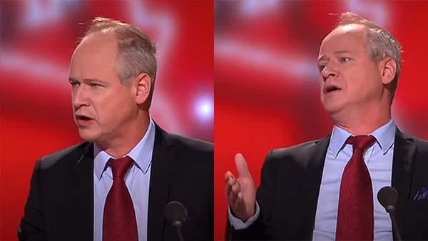 Robert Gustafsson imiterar Stefan Löfven - och hela Sverige skrattar rakt ut