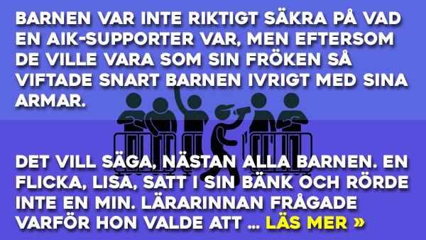 Vad är det för skillnad mellan en AIK-supporter och en Djurgårds-supporter? Se svaret här!