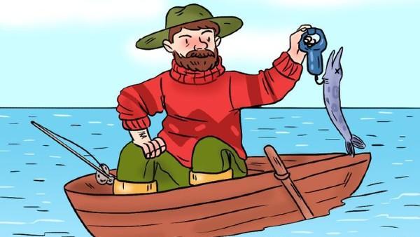 Kan du hitta felet i bilden med fiskaren?
