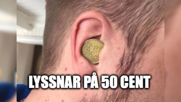 Lyssnar på 50 cent