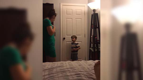 Hon åt upp sonens mat - det pojken gör då får hela världen att skratta